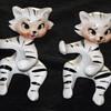 Retro cat figurines