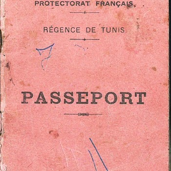 1947 French Tunisian passport