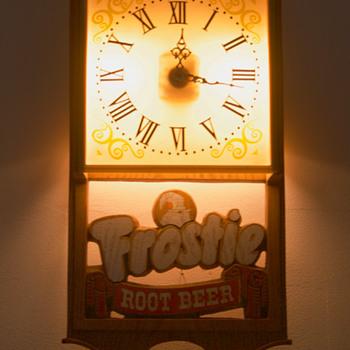 Frostie Root Beer Advertising Clock - Advertising