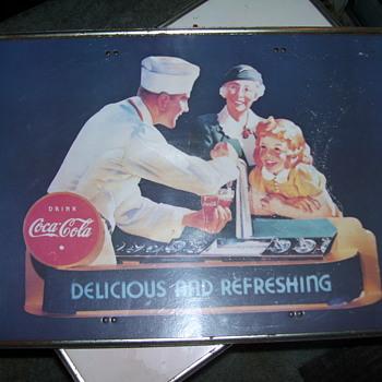 vintage coca-cola table - Coca-Cola