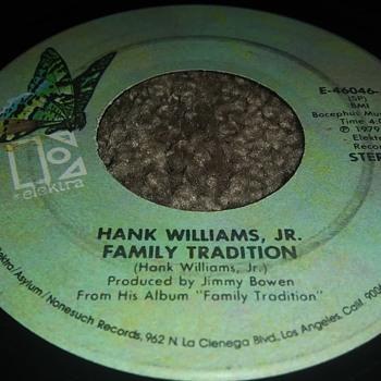 Hank Williams Jr....On 45 RPM Vinyl - Records