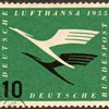 "1955 - West Germany ""Air Mail Service"" Postage Stamp"