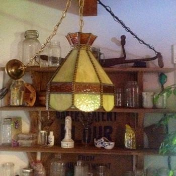 Hanging glass overhead lamp - Lamps