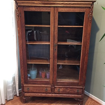 Antique Curio / Bookcase  - Furniture