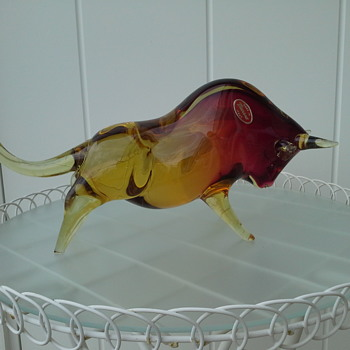 Murano Bull  - Art Glass