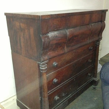 Can anyone help my friend with any Information on this Lovely old Chest of drawers.  - Furniture