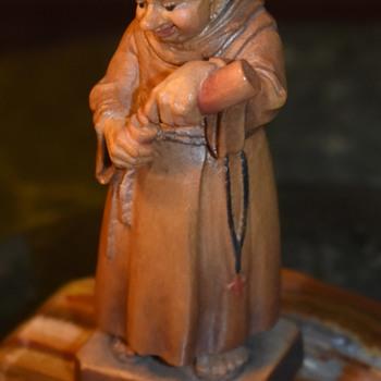 Tiny Drunken Monk - Anrik Italy? - Folk Art