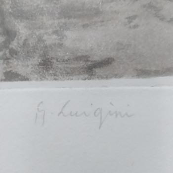 Ferdinand Luigini  large Aquatint