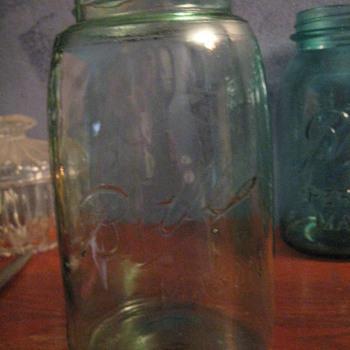 OLD Blue Mason Jars- 1 Qt - Bottles