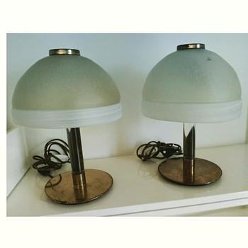 Murano mushroom lamps - Art Glass