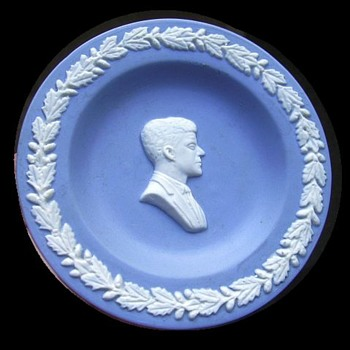 Vintage Wedgwood Jasperware Small Plate ---- John F. Kennedy  - China and Dinnerware