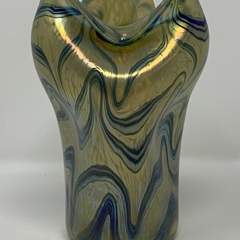Loetz Phänomen Genre 1/104 Vase, PN unknown, ca. 1901 - Art Glass
