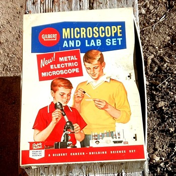 Gilbert Microscope Mteal Box filled with AHM Mini-Tanks - Toys