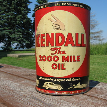 Kendall 5 Qt oil can 1940 - Petroliana