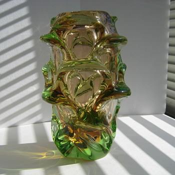 "Skrdlovice ""Atlas"" vase - Art Glass"