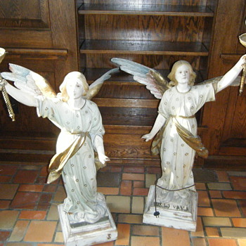 Wood Angel Statue Lamps - Lamps