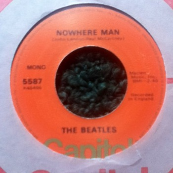 "The Beatles - ""Nowhere Man"" & ""What Goes On"" 45 Record - Records"