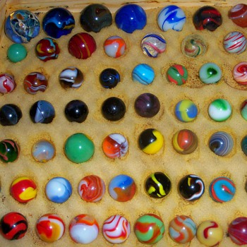 marbles from collection - Art Glass