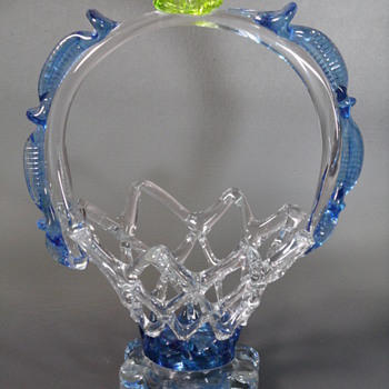 Glass Lace Basket Mystery - Art Glass