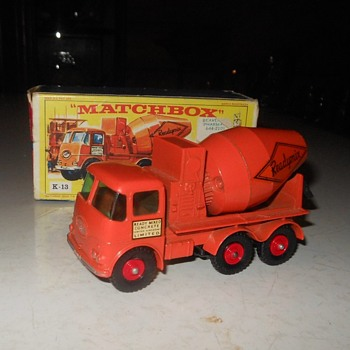 Mighty Muddy Matchbox Monday Ready-Mix Concrete Truck K-13 1960s - Model Cars