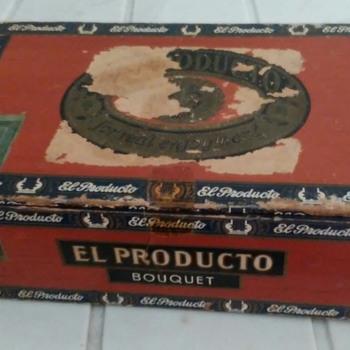 """""""El Producto"""" brand old  cigar case.   - Tobacciana"""