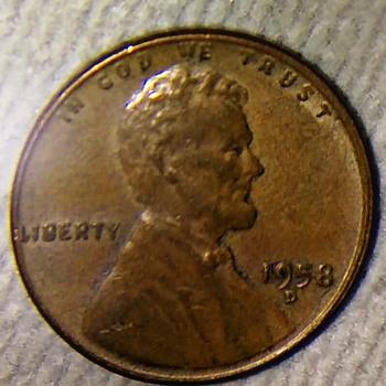 1958 D 1cent