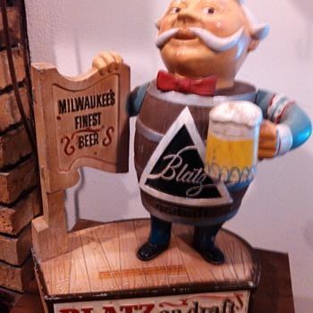 1963 Blatz Barrel Man Statue - Breweriana