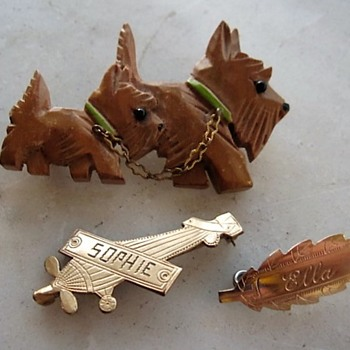 My sister will love these engraved name pins - Animals