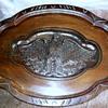 vintage table carved eagle