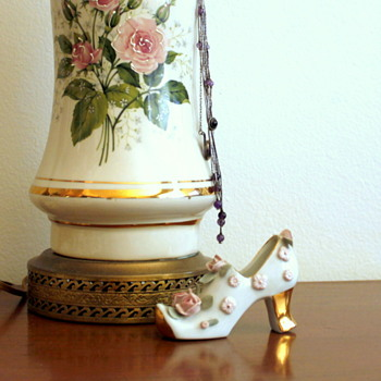 Porcelain Shoe 1940's Nippon Noritake and Roses - China and Dinnerware