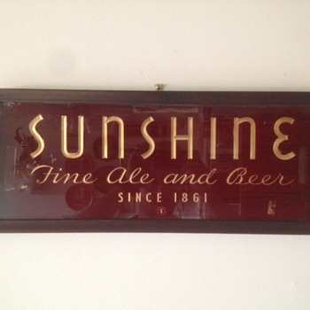 Sunshine Ale and Beer ROG Sign - Breweriana