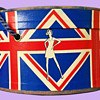 MOD 1960's London Carnaby Streets Union Jack Motif, Bonat Wig Box