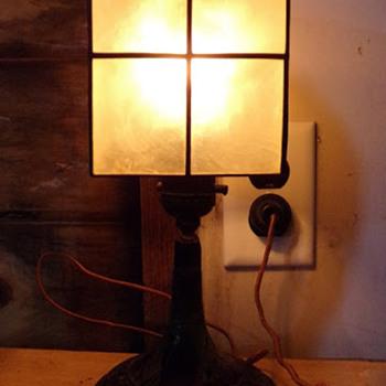 Early Art Deco Shell Lamp - Art Deco