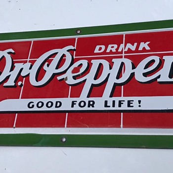 1940's Porcelain Dr.Pepper Brick Sign ! ~ - Advertising