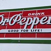 1940's Porcelain Dr.Pepper Brick Sign ! ~
