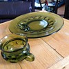 Green Glass Dishes