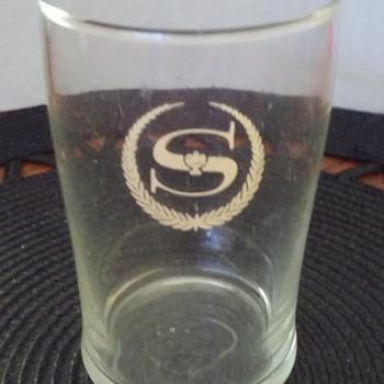 old SHERATON HOTELS water glass - Glassware