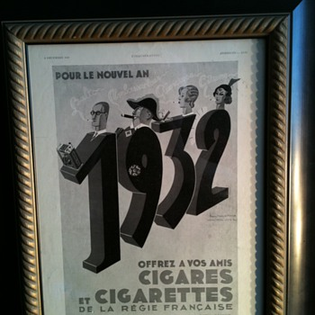 french cigar and cigarettes ad - Advertising