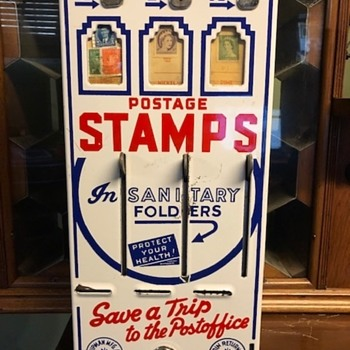 Antique Postage Stamp Vending Machine - Office