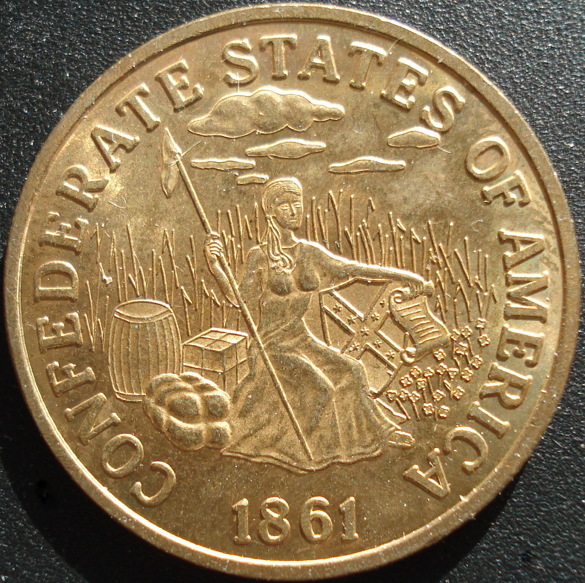 Confederate States Of America 20 Gold Coin Collectors