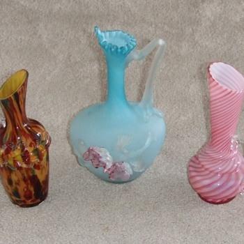 Art Glass Ewer group
