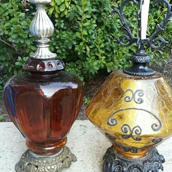 What did I find? Vintage glass table lamps with metal bases  - Lamps
