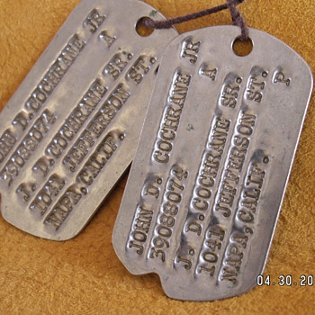 WWII Dogtags - Military and Wartime
