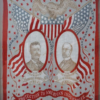 1904 Theodore Roosevelt for President Fabric Poster - Posters and Prints