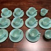 Jadeite cups and saucers