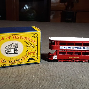 Musty Mostly Motorized Matchbox Monday Models Of Yesteryear No3 1907 London E Class Tramcar Circa 1957 - Model Cars