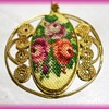 Embroidery Pendant -- Vintage