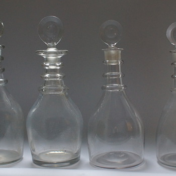 Classic Georgian decanters - Bottles