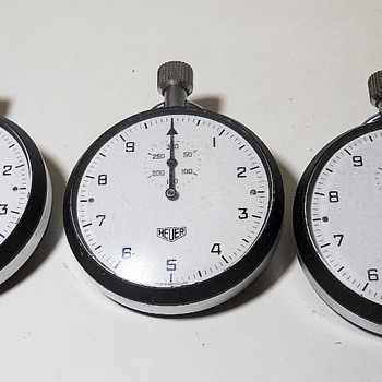 Vintage HEUER STOPWATCHES ? Year ?? (or 2 words STOP WATCH) - Wristwatches