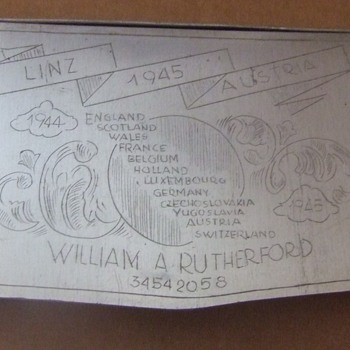 Trench art engraved cigarette case